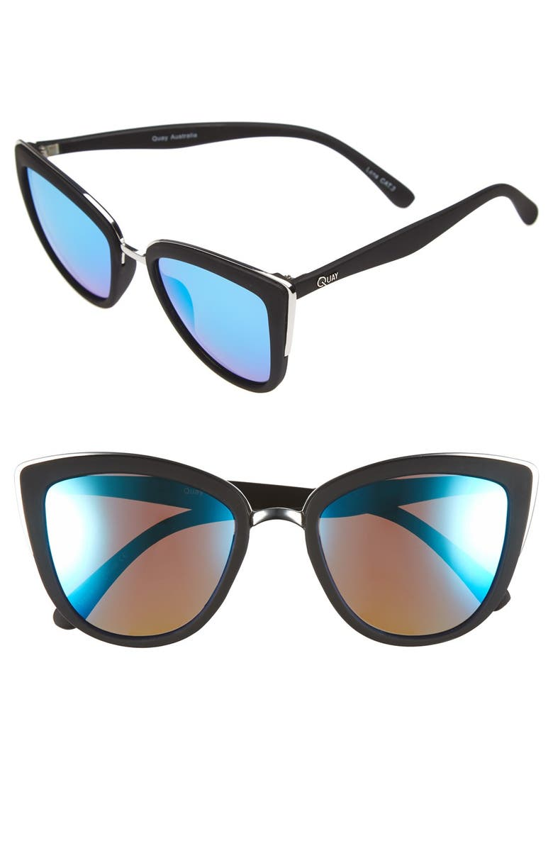 QUAY AUSTRALIA 'My Girl' 50mm Cat Eye Sunglasses, Main, color, 001