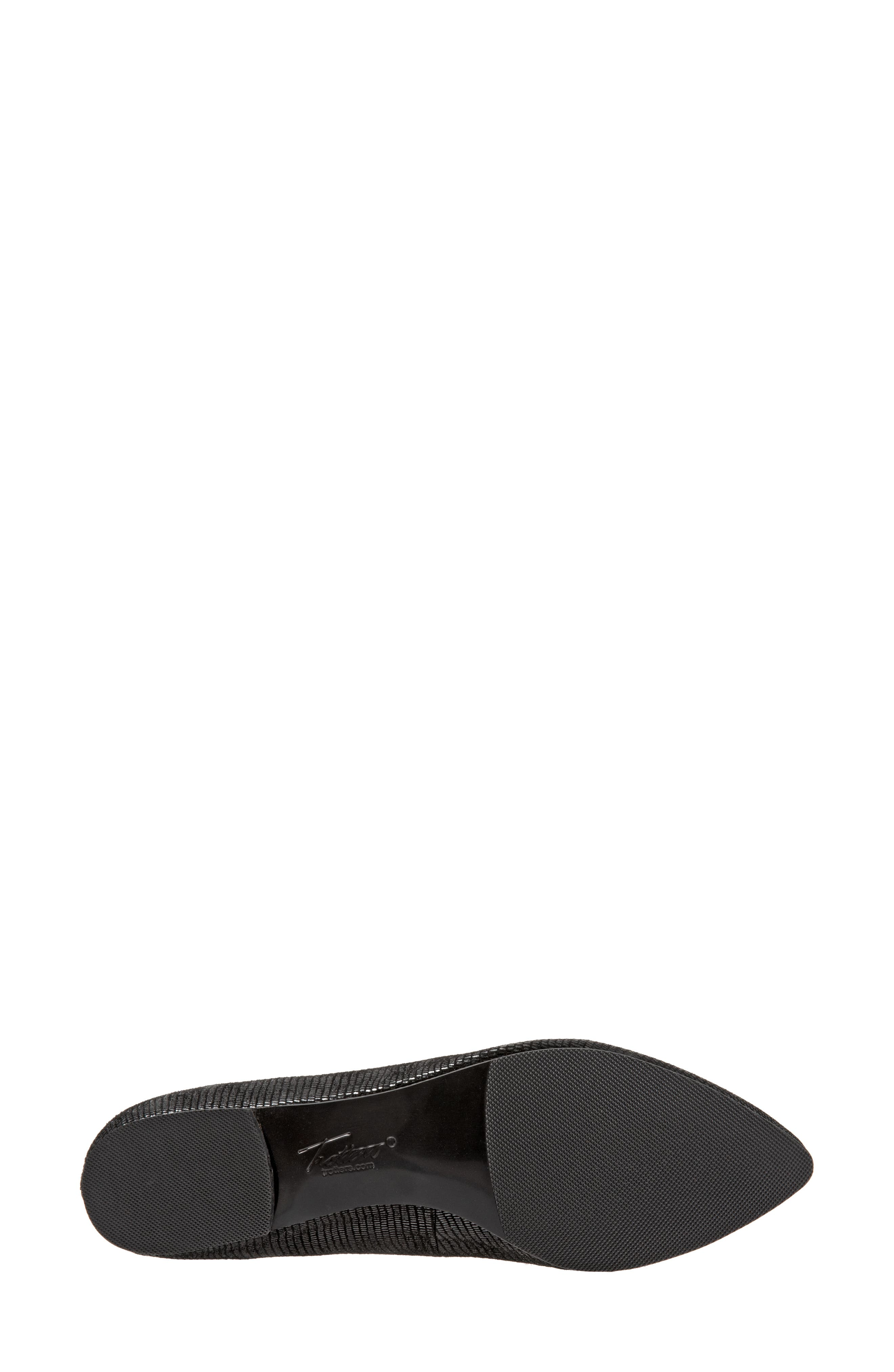 ,                             Harlowe Pointy Toe Loafer,                             Alternate thumbnail 6, color,                             DARK BLACK LEATHER