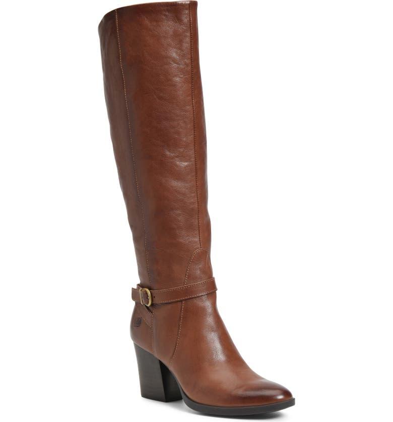 BØRN Esla Over the Knee Boot, Main, color, BROWN LEATHER