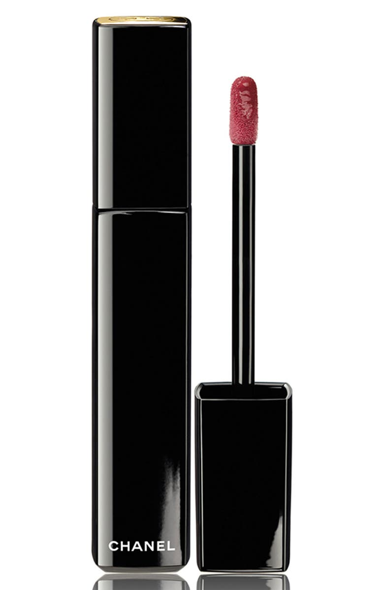 CHANEL ROUGE ALLURE LAQUE LUMINOUS SATIN LIP LACQUER, Main, color, 000