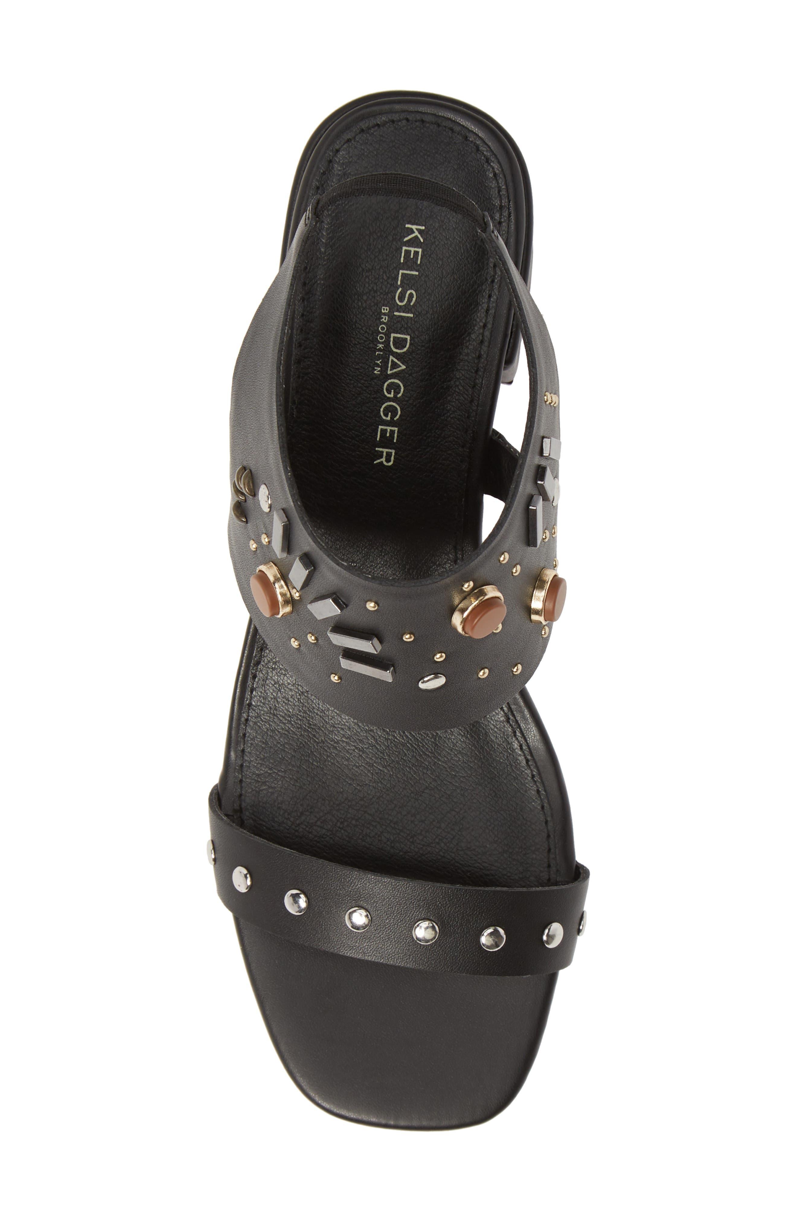 ,                             Studded Sandal,                             Alternate thumbnail 5, color,                             BLACK