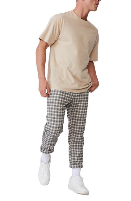 Image of Cotton On Oxford Check Print Trousers