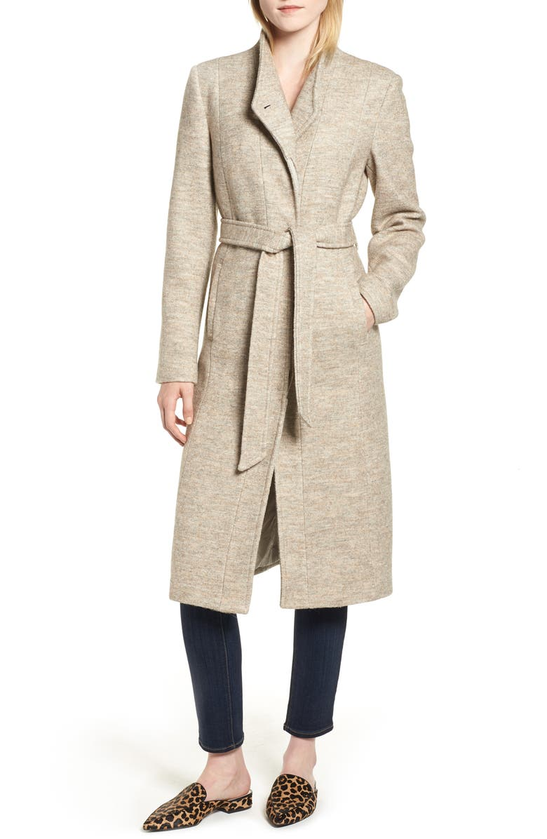 COLE HAAN SIGNATURE Woven Coat, Main, color, OAT