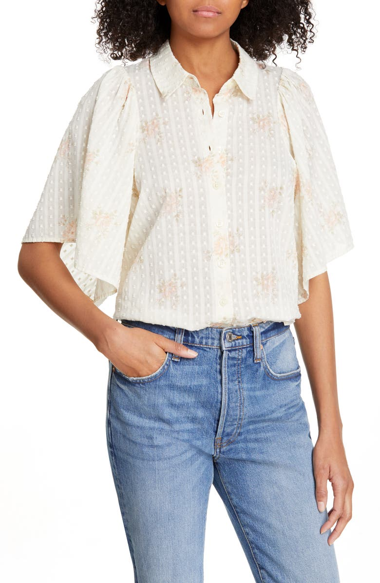 THE GREAT. The Butterfly Shirt, Main, color, 650
