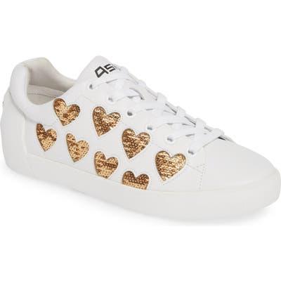 Ash Nikita Sequin Heart Sneaker, White