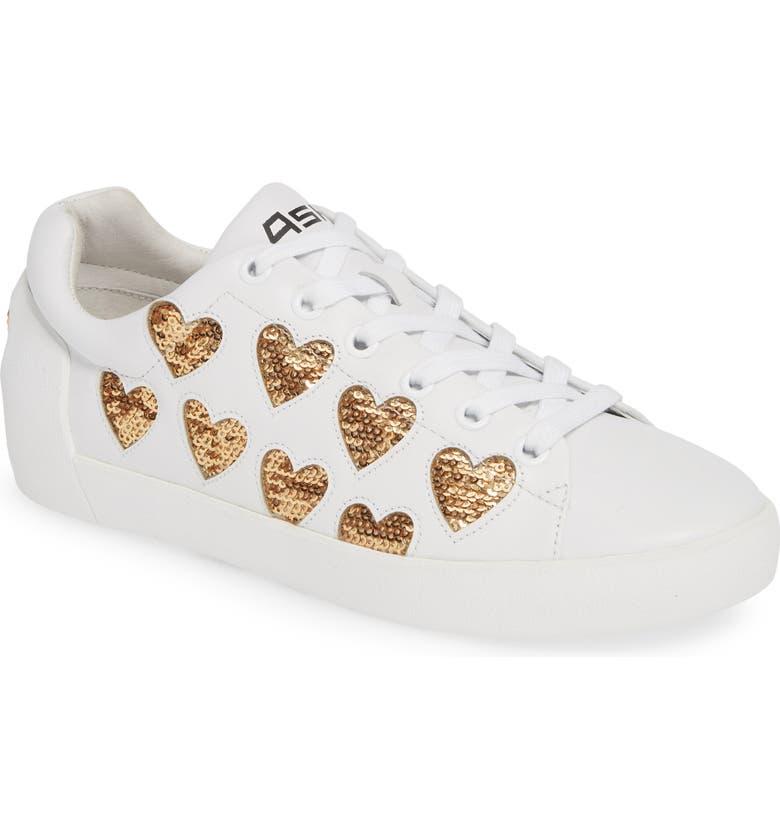 ASH Nikita Sequin Heart Sneaker, Main, color, 110