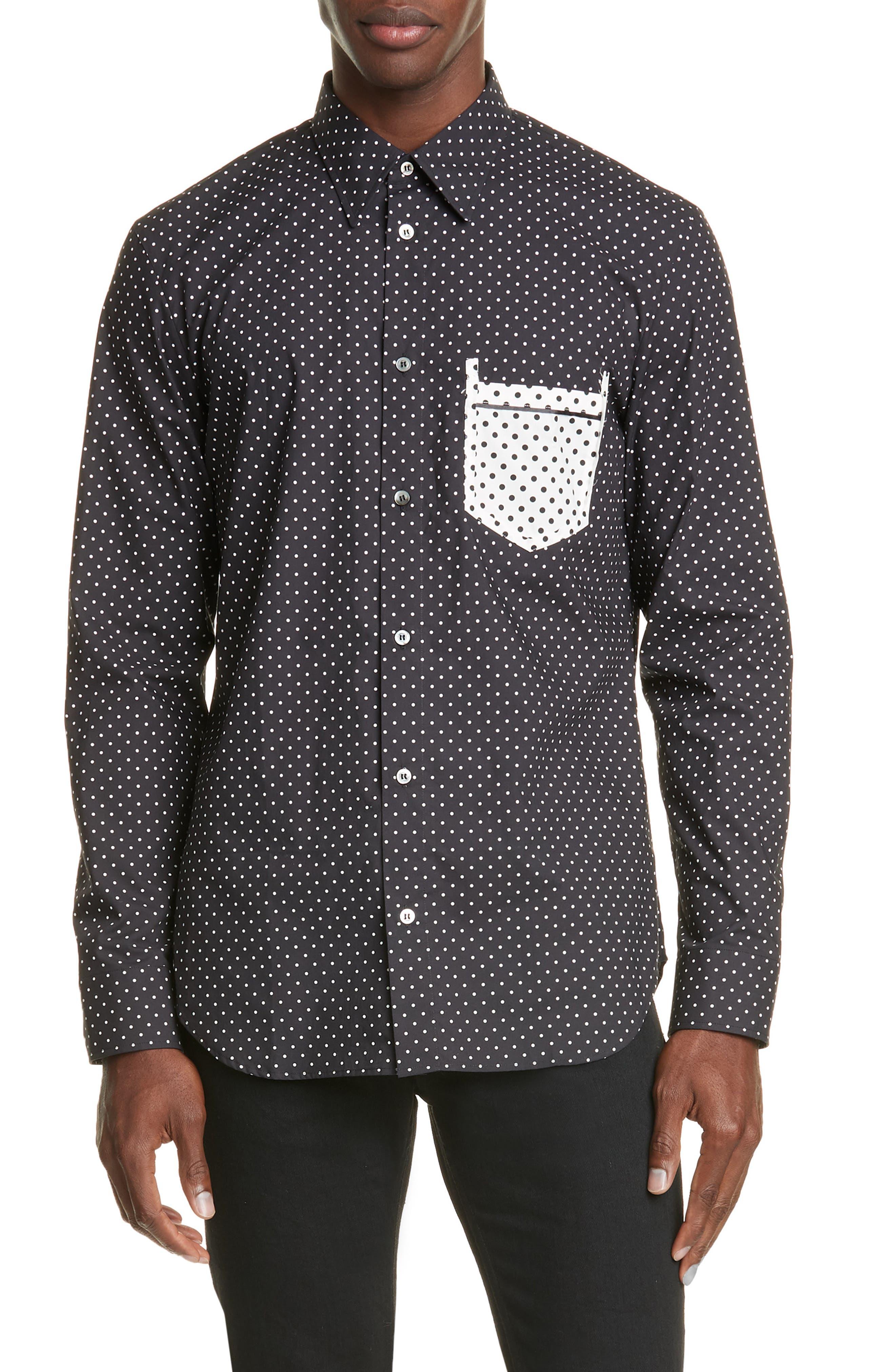 Maison Margiela T-shirts Micro Polka Dot Button-Up Shirt