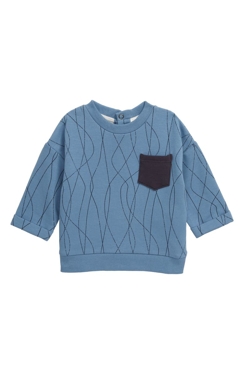 MILES BABY Print Sweatshirt, Main, color, BLUE
