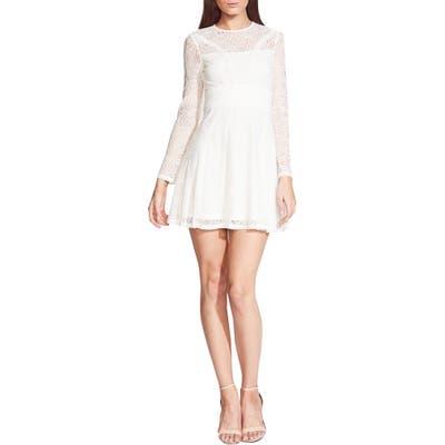 Bardot Tiana Lace Long Sleeve Minidress, Ivory