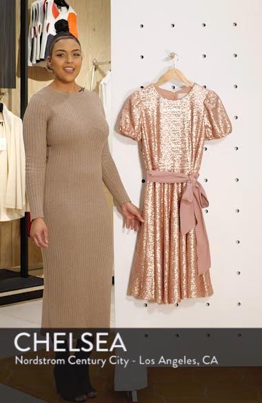 Beatrix Sequin Crush Fit & Flare Dress, sales video thumbnail