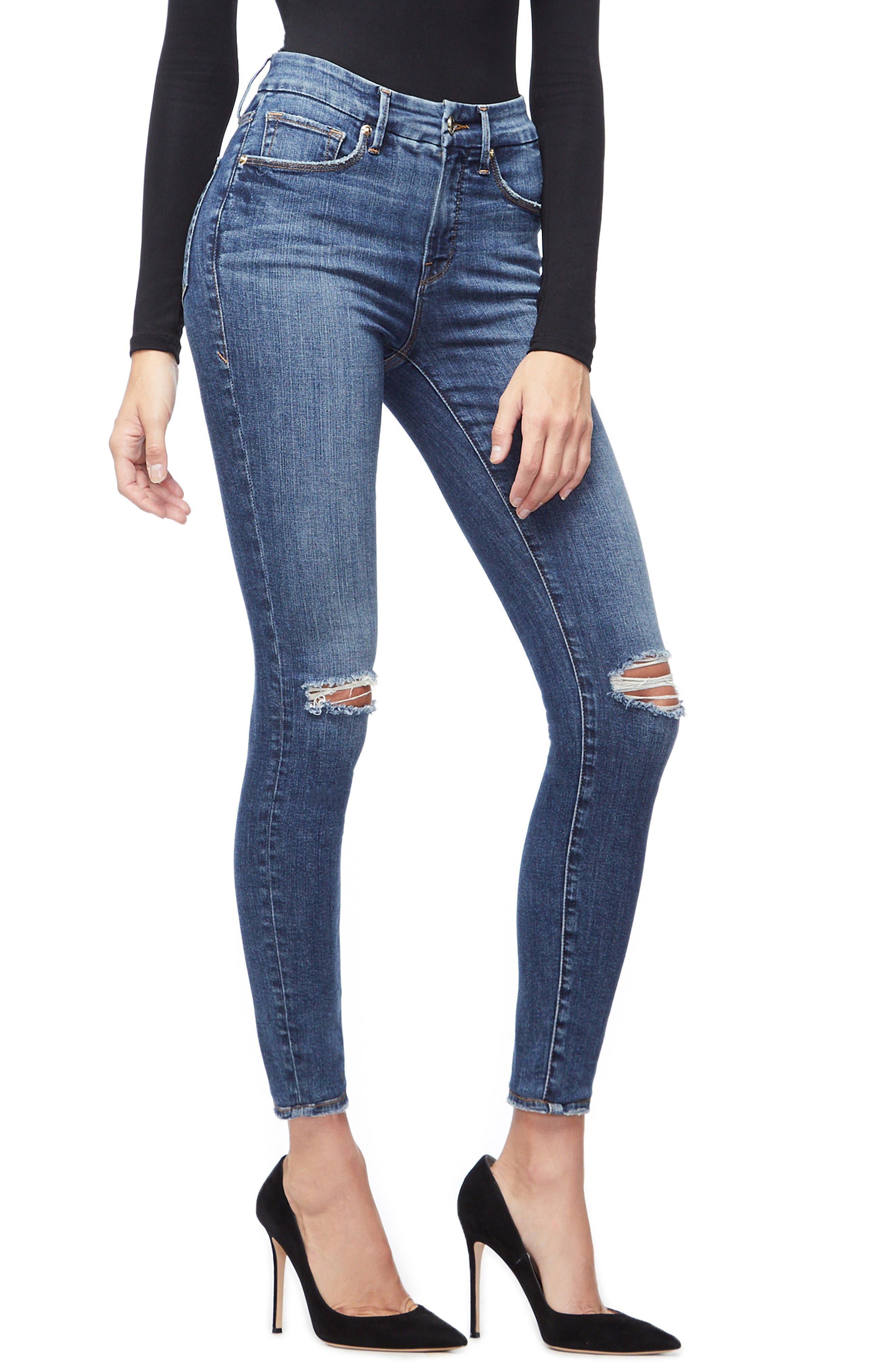 ,                             Good Legs High Waist Skinny Jeans,                             Alternate thumbnail 27, color,                             404