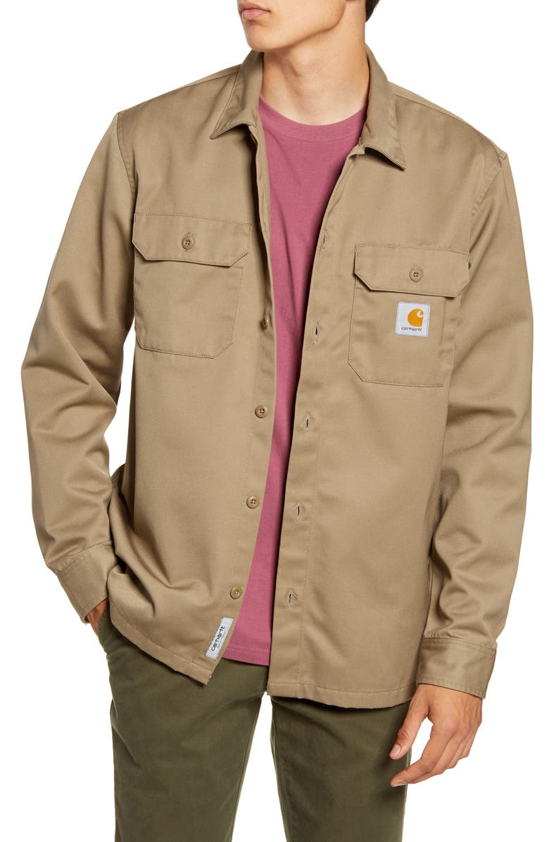 CARHARTT WORK IN PROGRESS Master Denison Twill Shirt Jacket, Main, color, 200