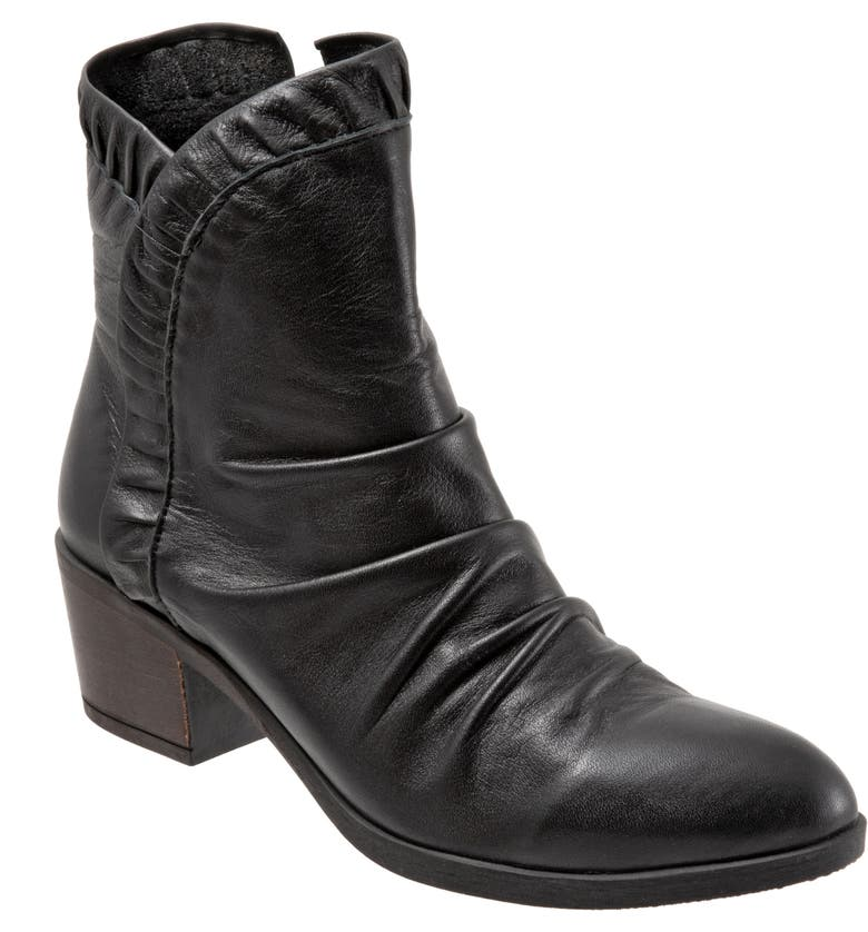 BUENO Connie Slouch Bootie, Main, color, BLACK LEATHER