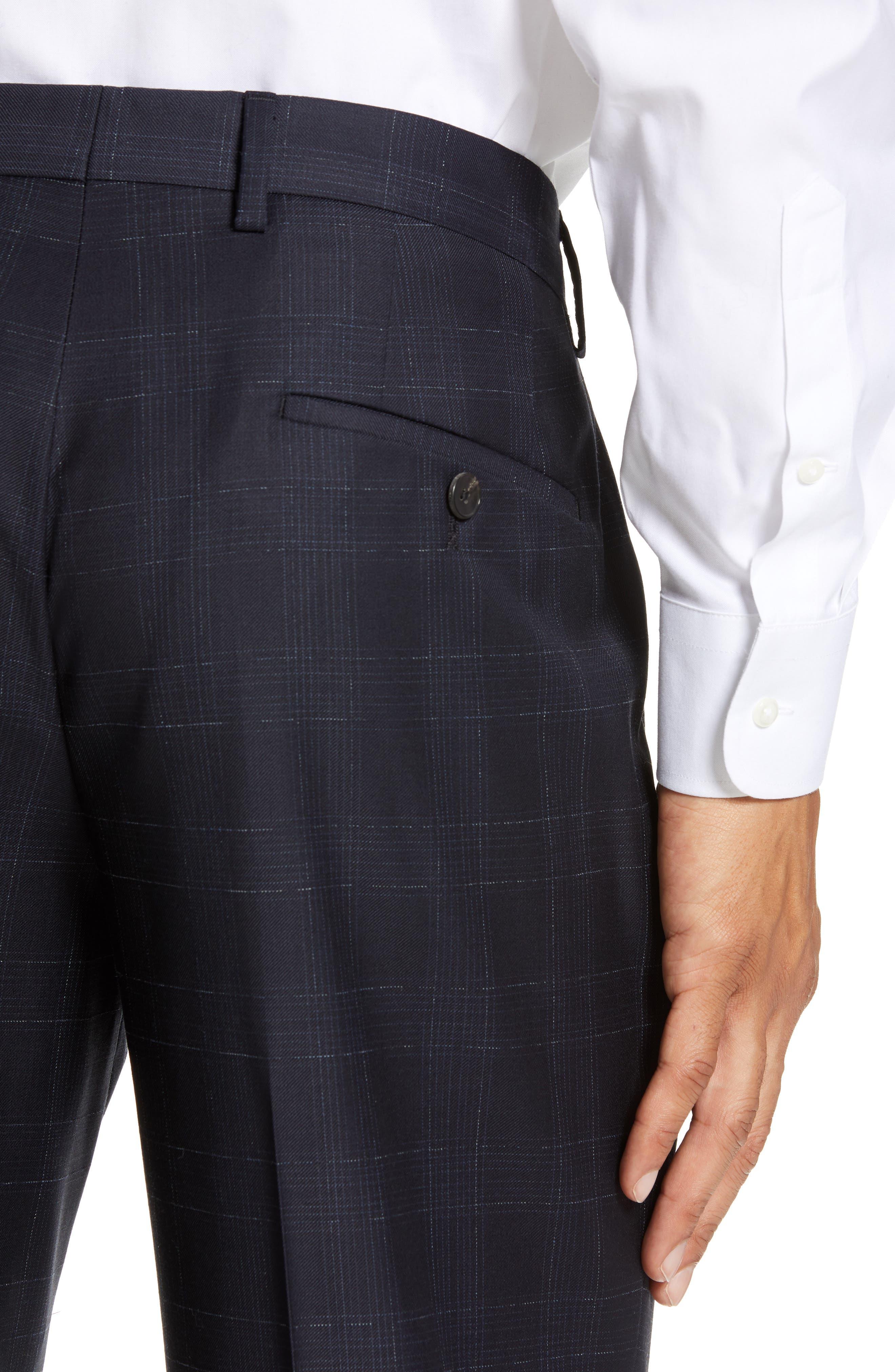 ,                             Genesis Flat Front Plaid Wool Trousers,                             Alternate thumbnail 10, color,                             411