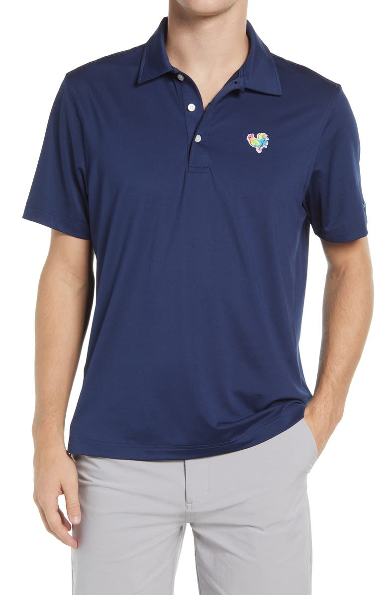 CHUBBIES The Bluebird Day Stretch Polo, Main, color, NAVY