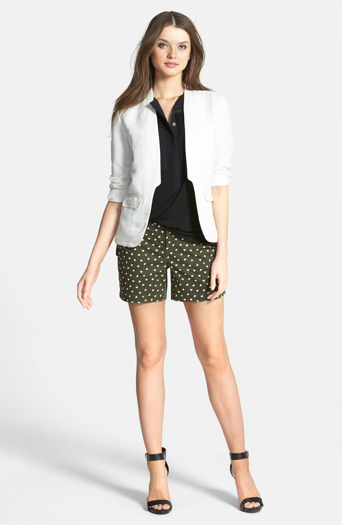 ,                             Linen Blend Jacket,                             Alternate thumbnail 5, color,                             100