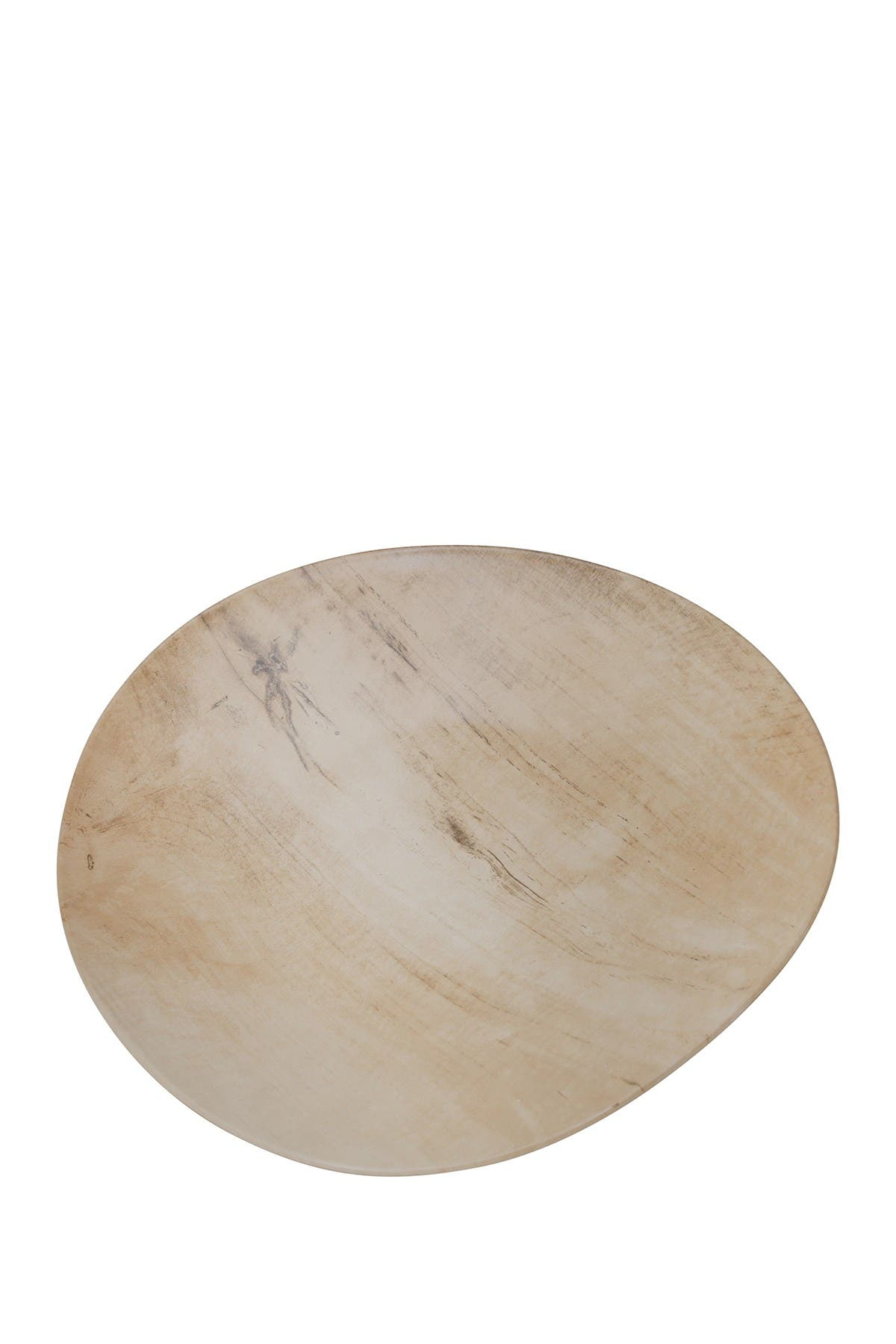 Image of SAGEBROOK HOME Faux Wood Ceramic Plate 15""