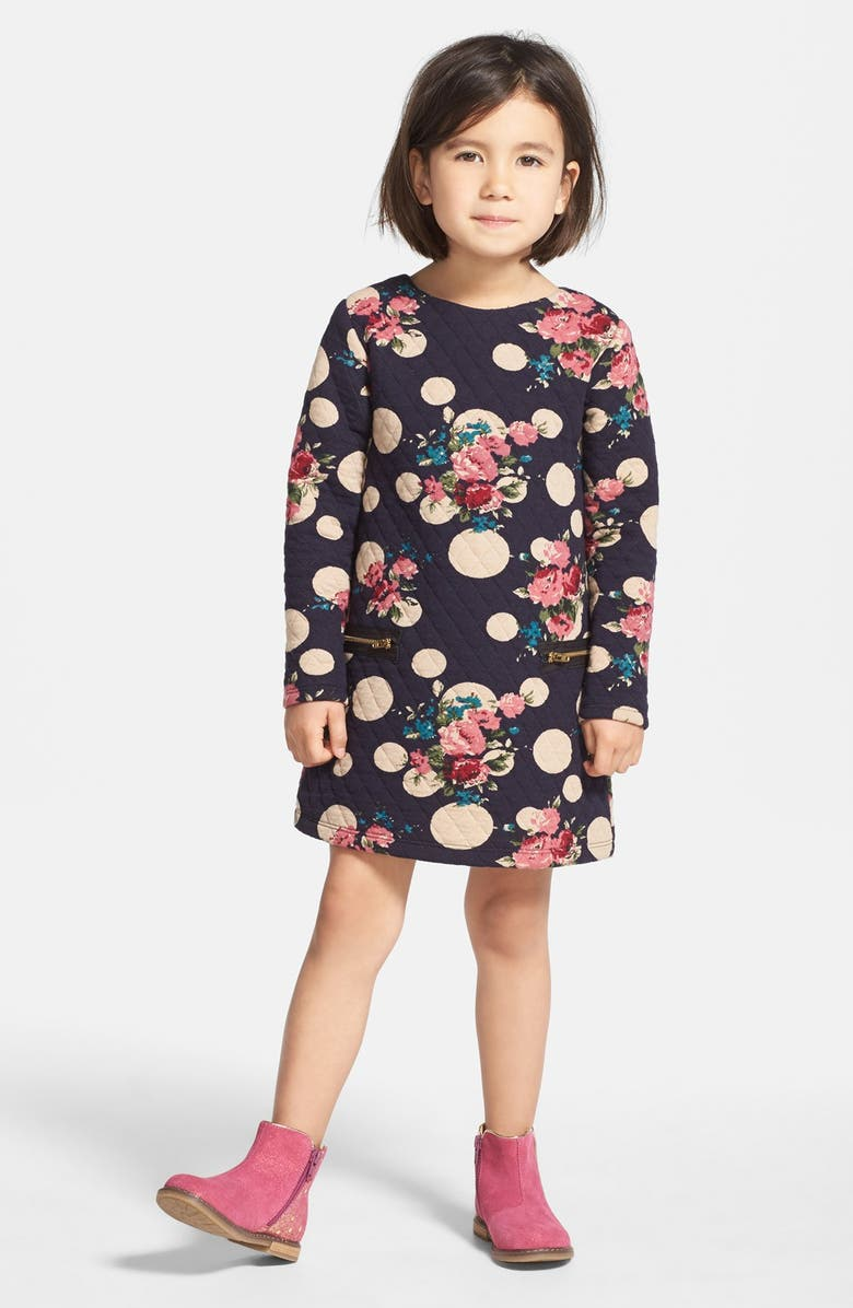 PIPPA & JULIE Polka Dot Sweatshirt Dress, Main, color, 415