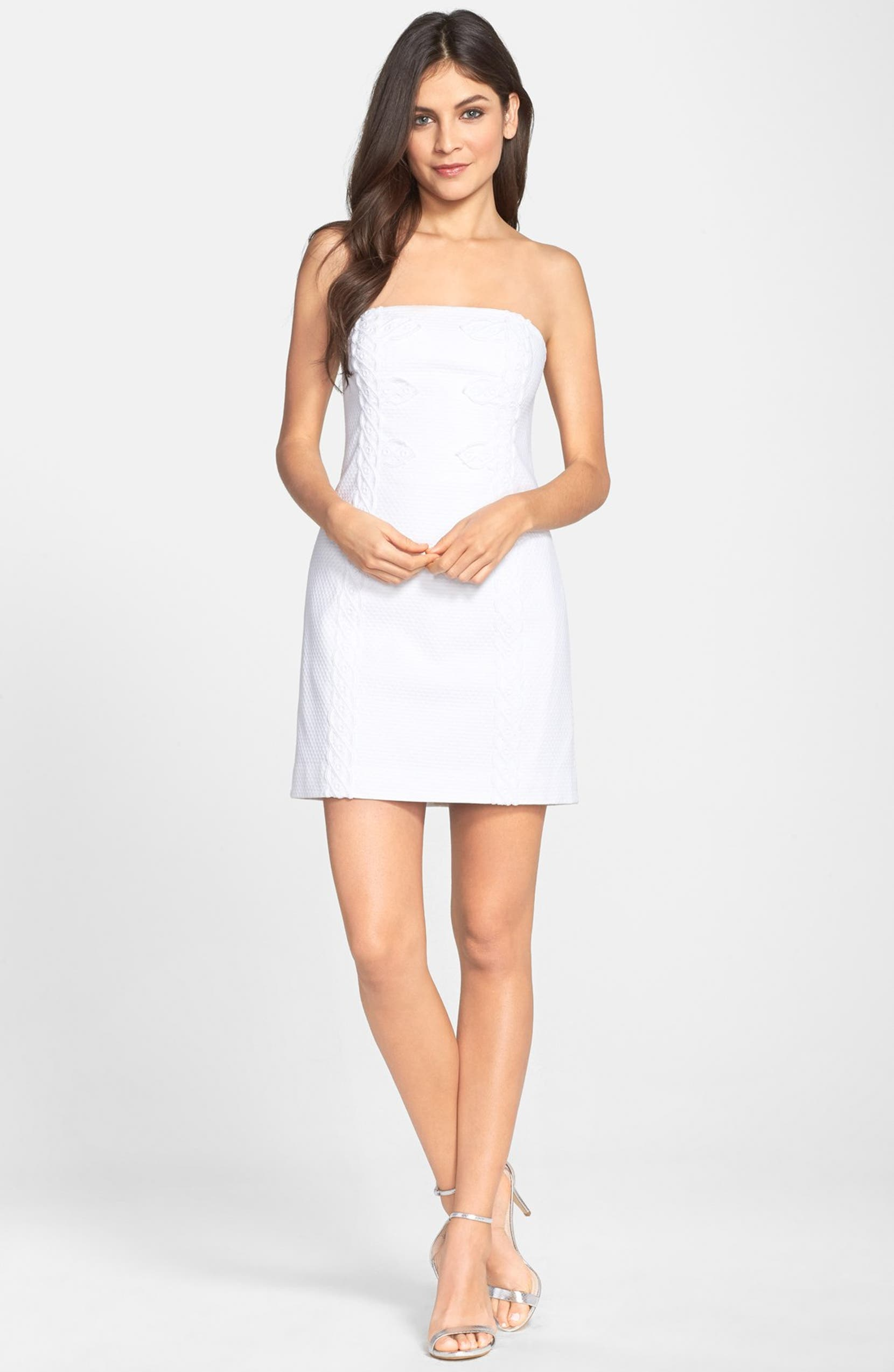 ae5af2547831 Lilly Pulitzer® 'Tansy' Textured Cotton Strapless Dress | Nordstrom