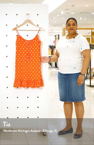 Sophia Print Cotton Blend Jersey Minidress, sales video thumbnail