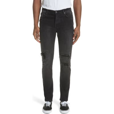 Ksubi Chitch Boneyard Skinny Fit Jeans, Black