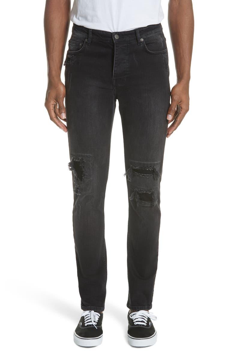 KSUBI Chitch Boneyard Skinny Fit Jeans, Main, color, BLACK