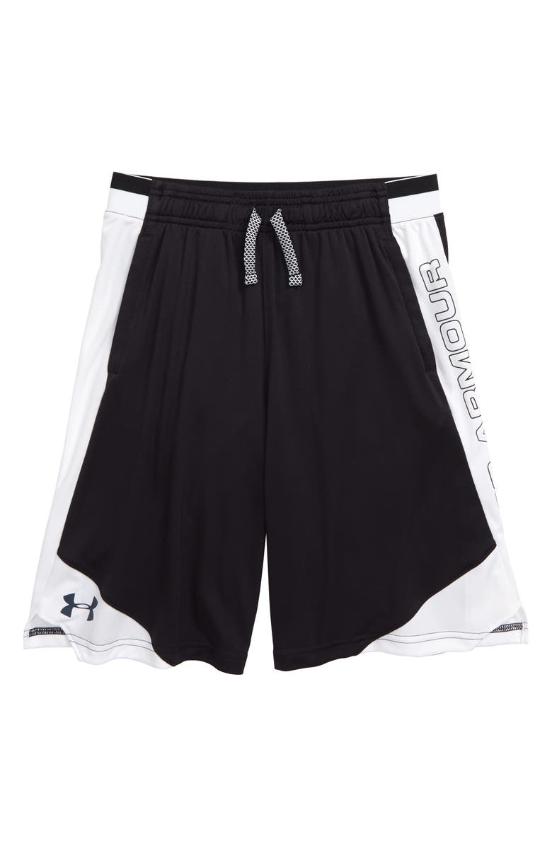 UNDER ARMOUR Stunt 2 Shorts, Main, color, BLACK/ WIRE