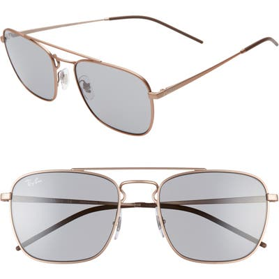 Ray-Ban 55Mm Navigator Sunglasses - Copper/ Grey Solid