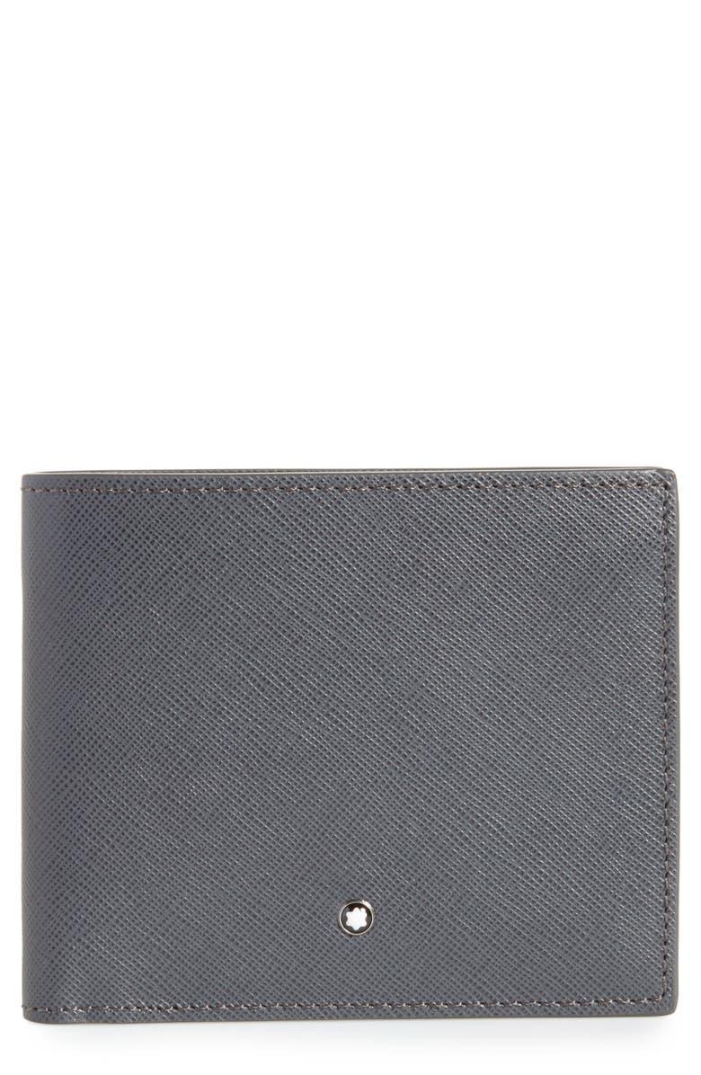 MONTBLANC Sartorial Leather Bifold Wallet, Main, color, DARK GREY