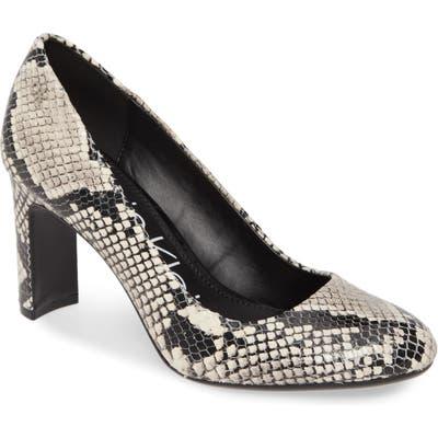 Calvin Klein Octavia Block Heel, Beige