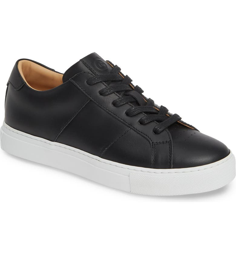 GREATS Royale Low Top Sneaker, Main, color, BLACK LEATHER