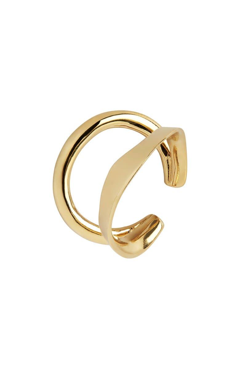 MARIA BLACK Ripples Ear Cuff, Main, color, GOLD