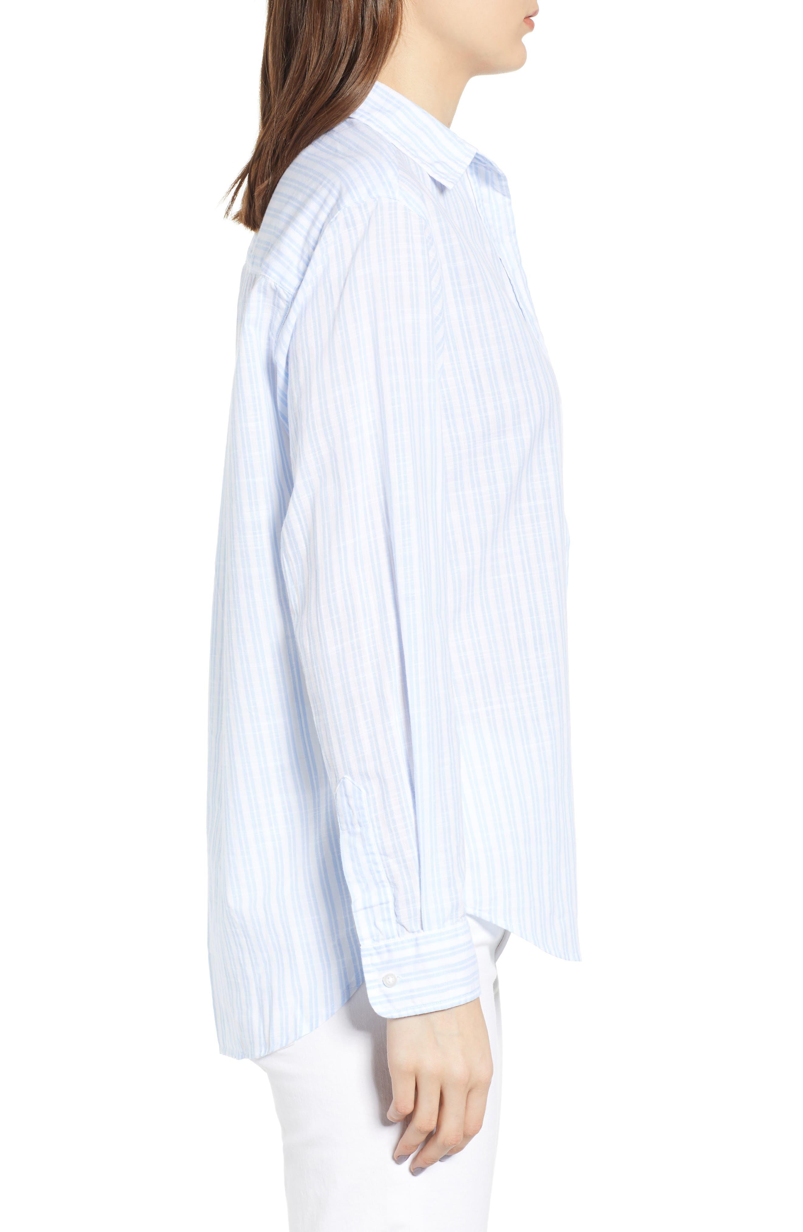 ,                             The Hero Washed Cotton Shirt,                             Alternate thumbnail 3, color,                             MARGARET BLUE STRIPE