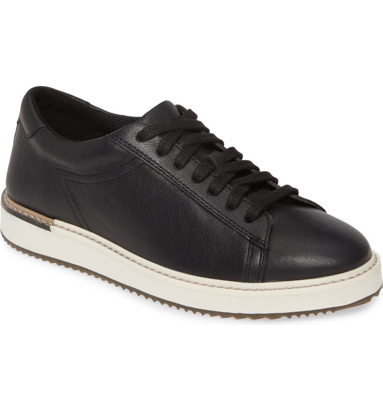 HUSH PUPPIES<SUP>®</SUP> Sabine Sneaker, Main, color, BLACK LEATHER