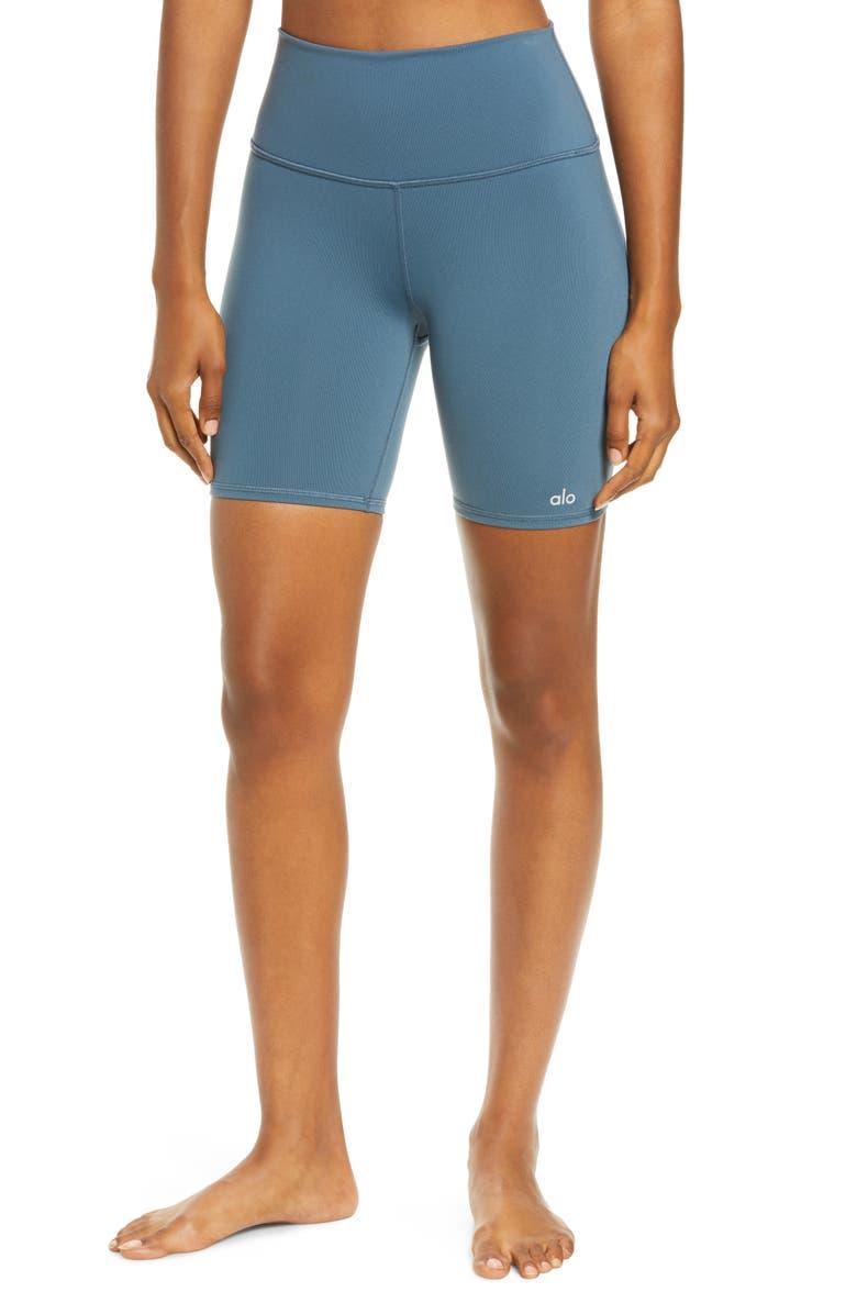 ALO High Waist Biker Shorts, Main, color, 301