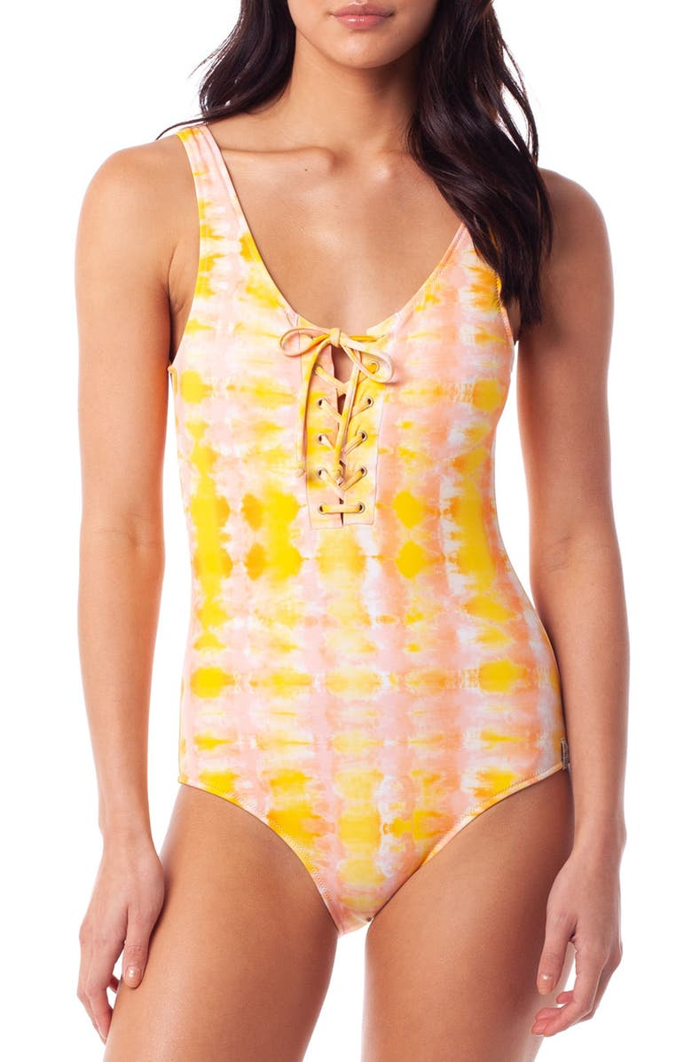 RHYTHM Cancun One-Piece Swimsuit, Main, color, SUNSET