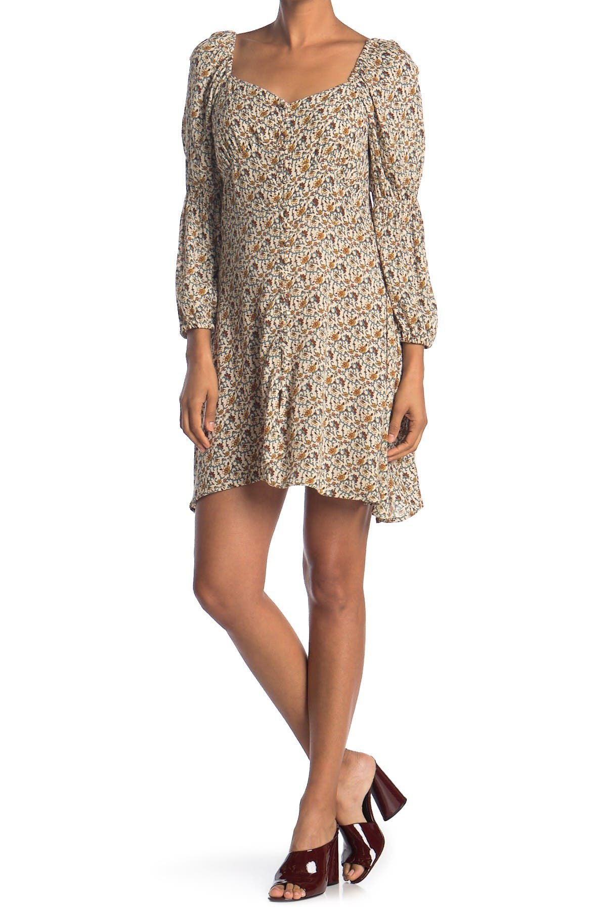 Image of Angie Long Sleeve Button Dress