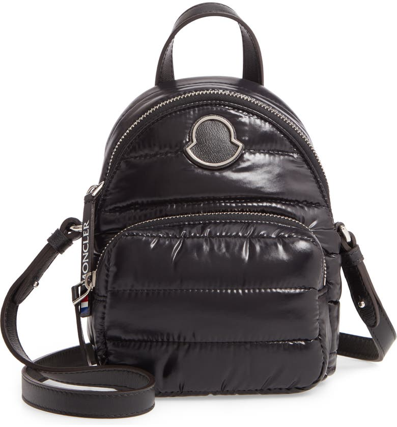 MONCLER Mini Kilia Quilted Crossbody Backpack, Main, color, BLACK