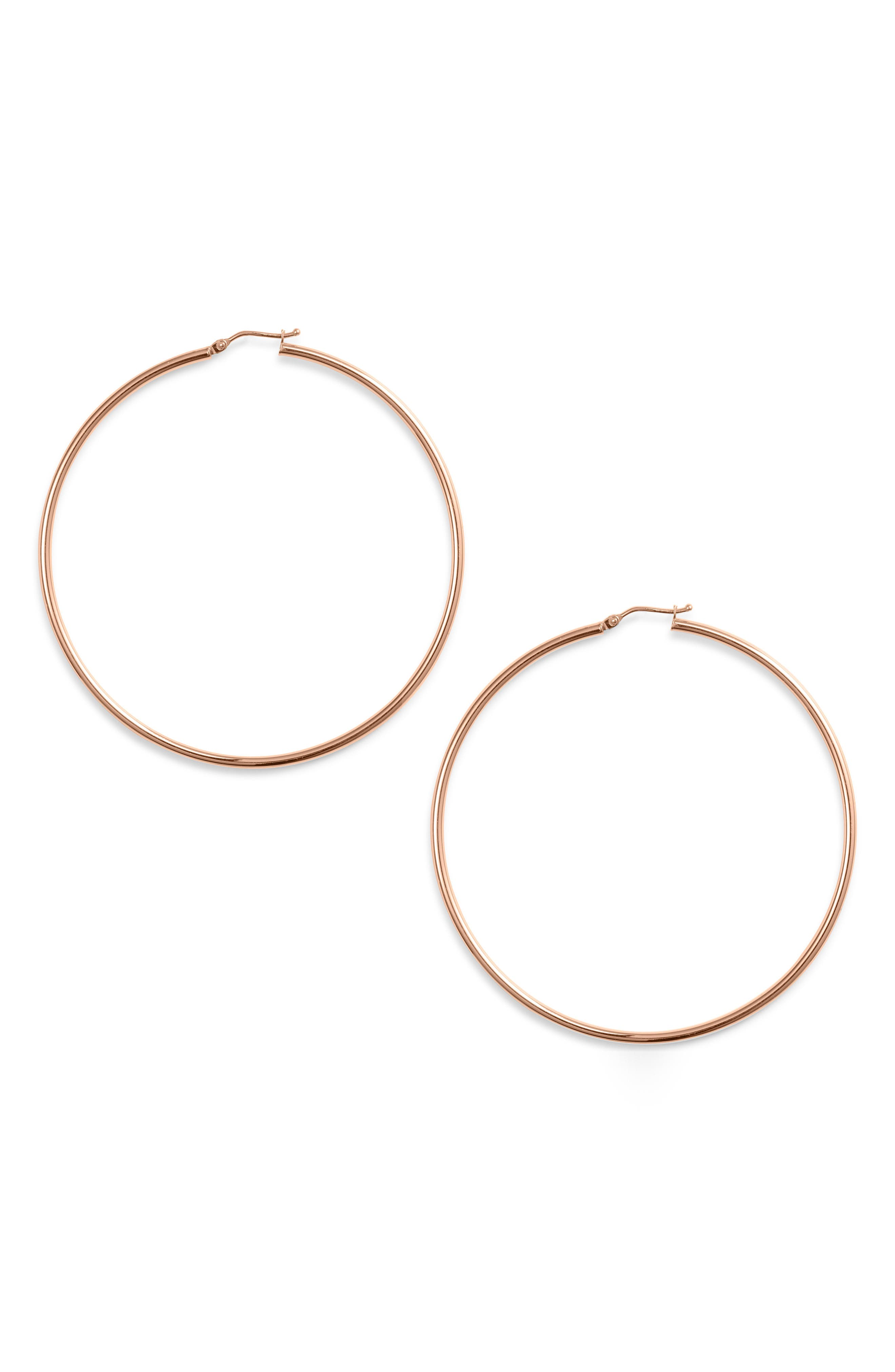 Live out your hoop dreams in a pair of handcrafted, 14-karat-gold earrings that show you know how to go big. Style Name: Bony Levy Extra Large Gold Hoop Earrings (Nordstrom Exclusive). Style Number: 5745574. Available in stores.