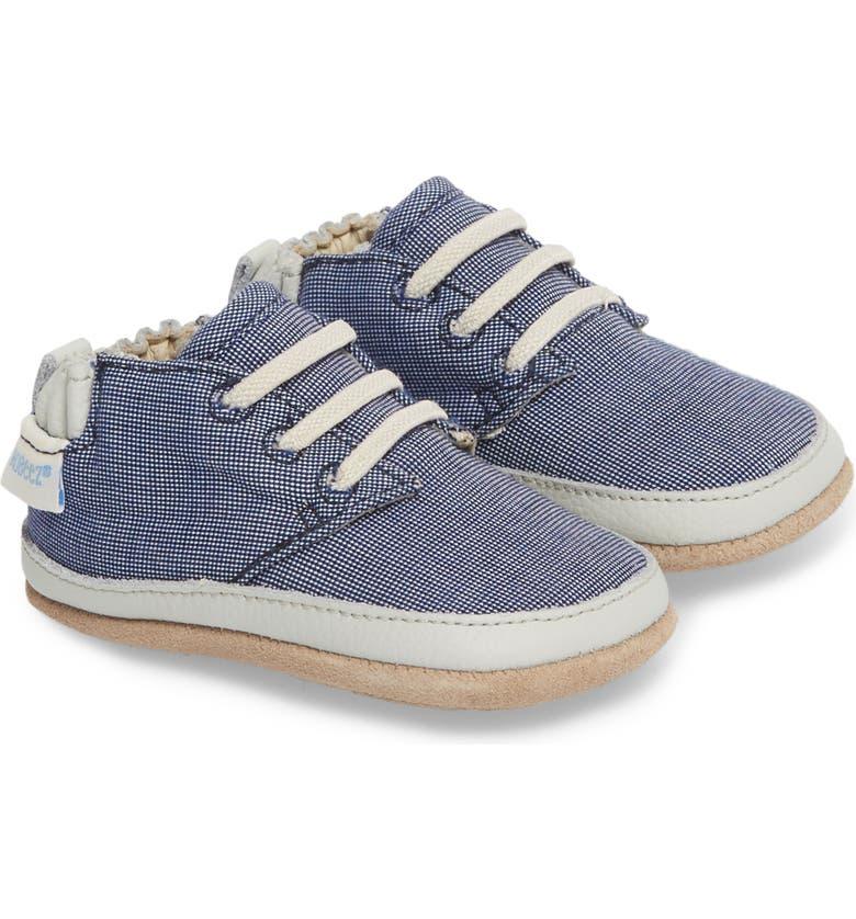 ROBEEZ<SUP>®</SUP> Steven Crib Sneaker, Main, color, DENIM