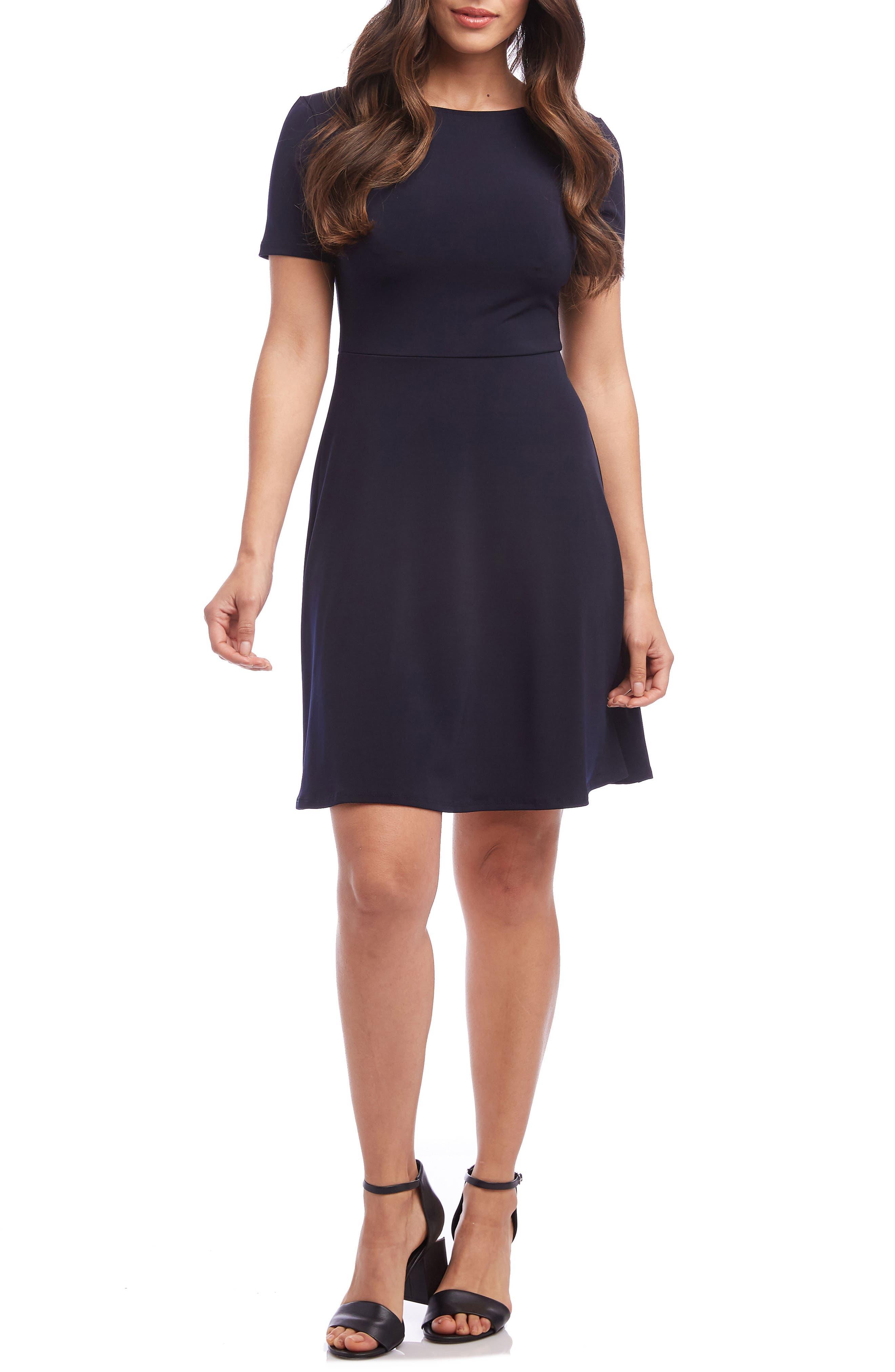 Karen Kane Short Sleeve Dress, Blue