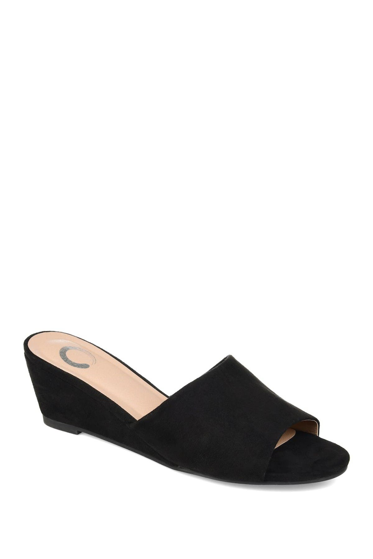 Image of JOURNEE Collection Pavan Wedge Slide Sandal