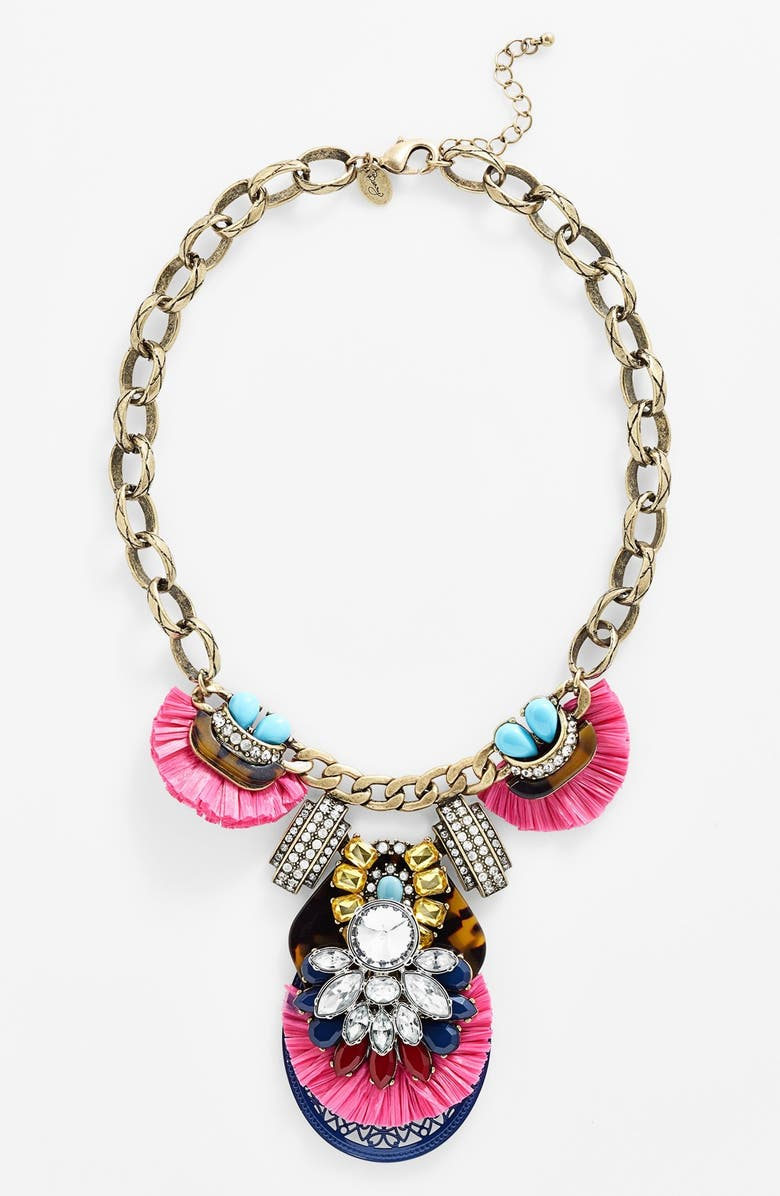 BERRY Faux Tortoiseshell & Crystal Necklace, Main, color, 650