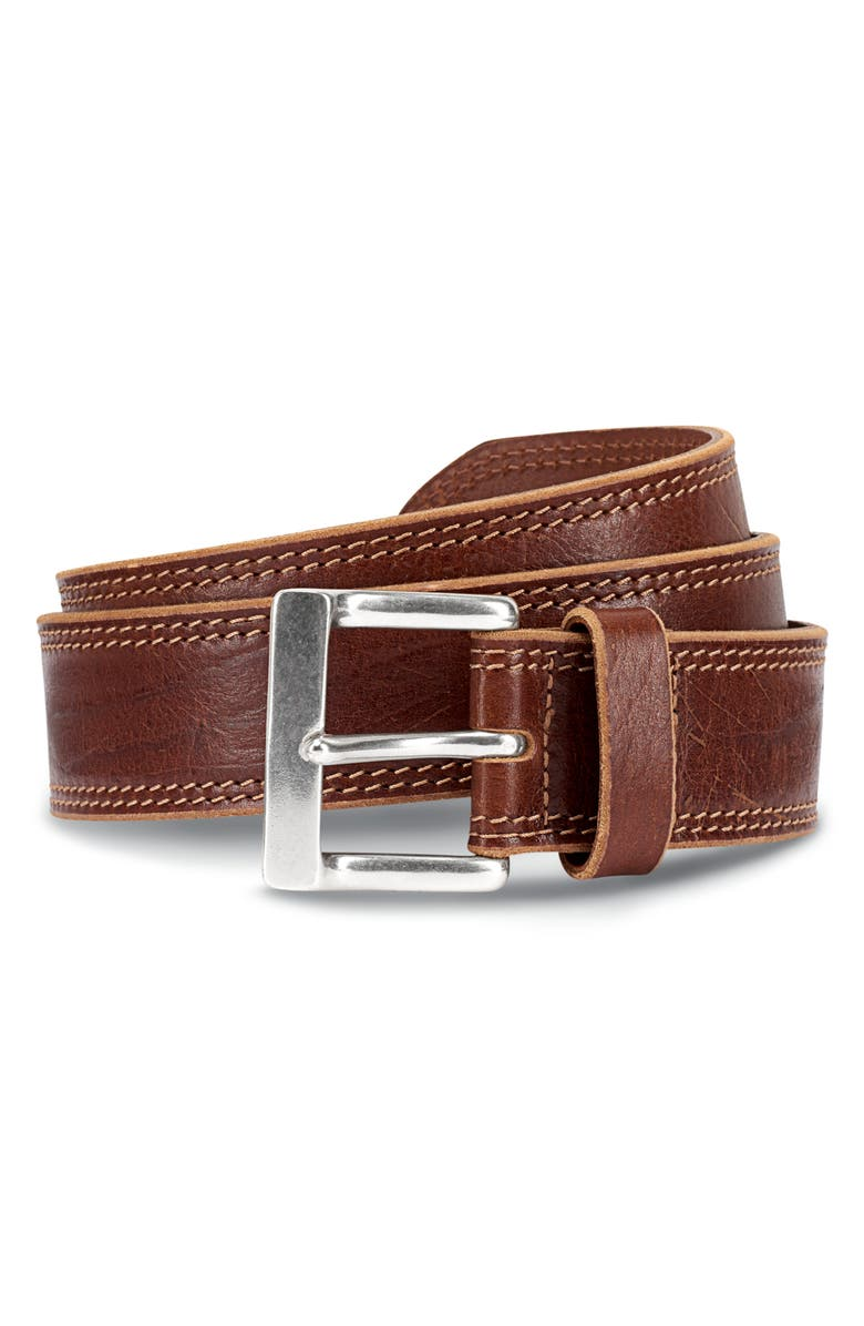 ALLEN EDMONDS Quay Avenue Leather Belt, Main, color, TAN