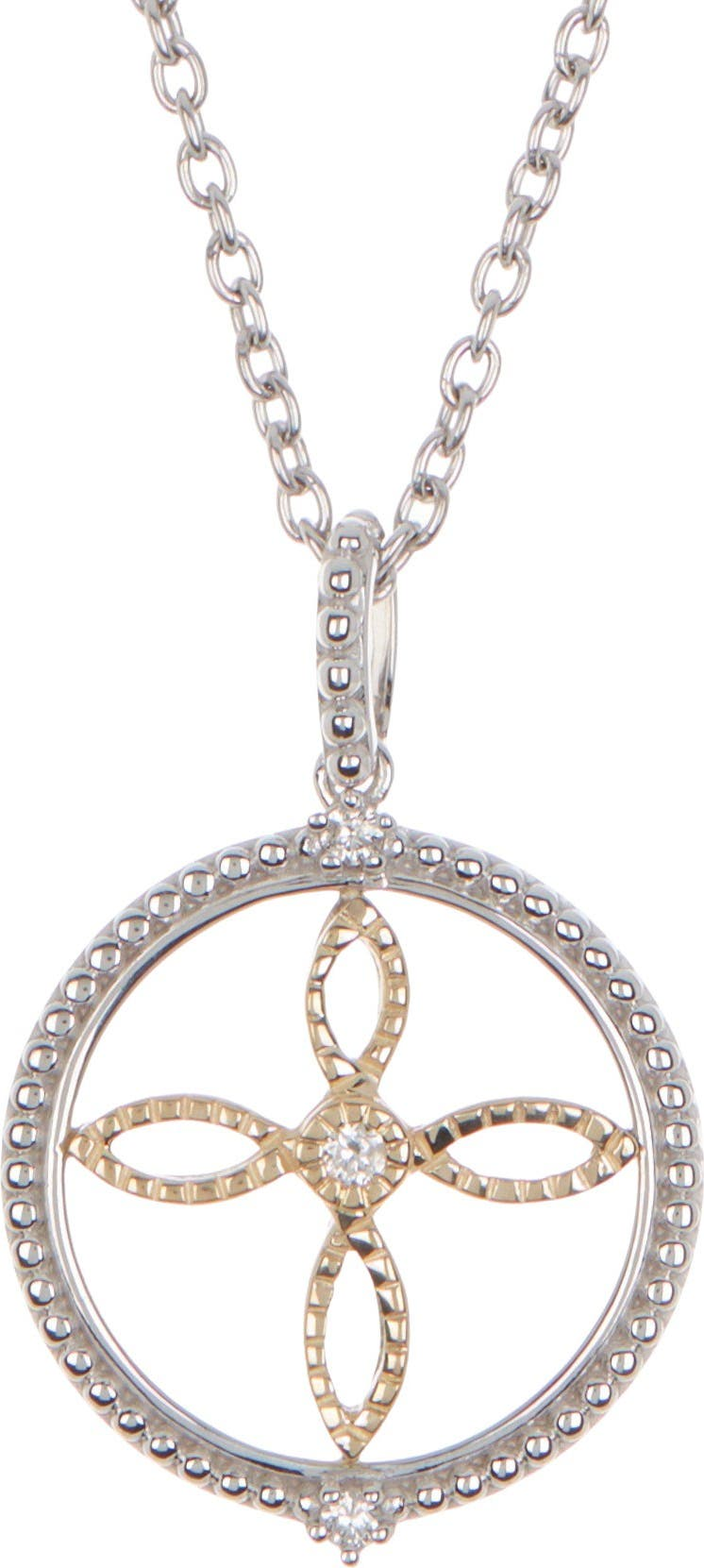 Details about  /14K Two-Tone Gold Passion Cross Charm Pendant MSRP $539