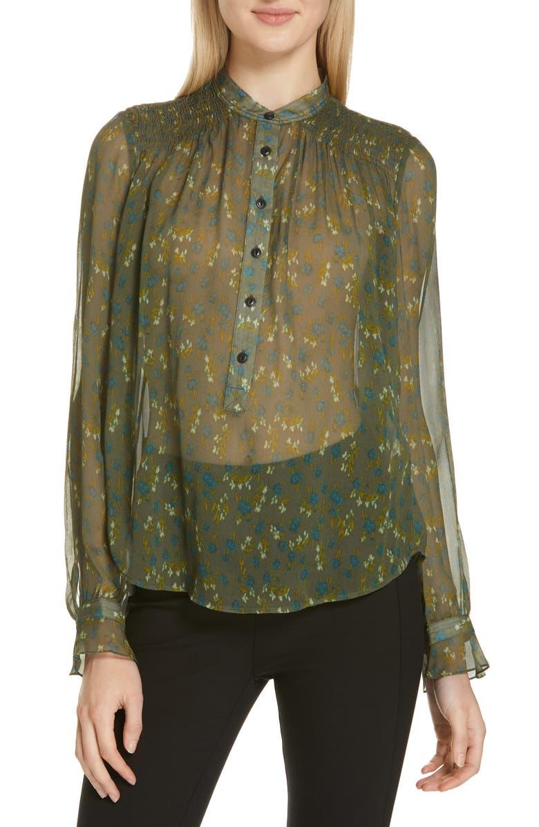 f0f07f914e79a4 rag & bone Susan Floral Print Silk Blouse | Nordstrom