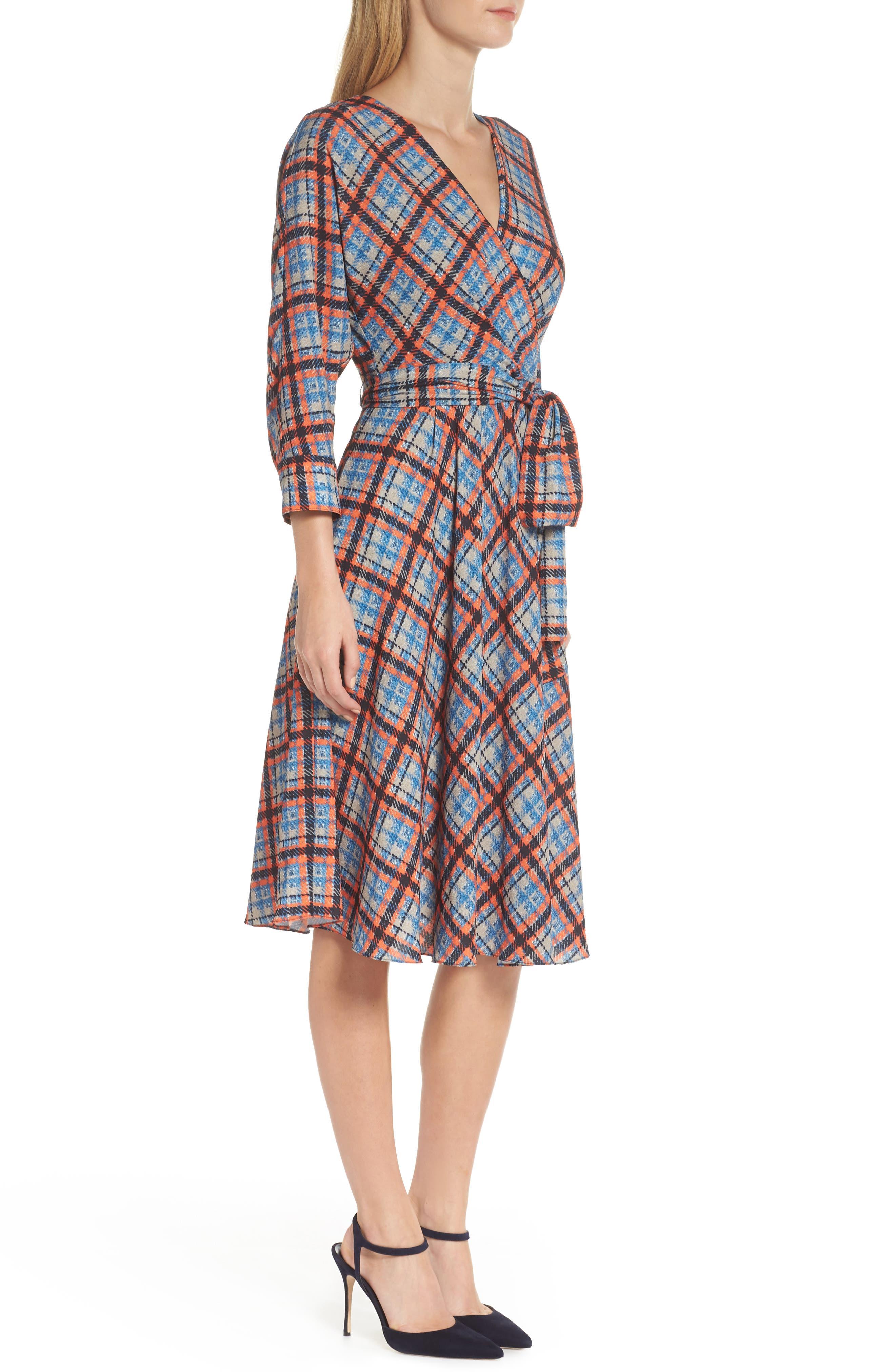 ,                             Plaid Faux Wrap Dress,                             Alternate thumbnail 4, color,                             810