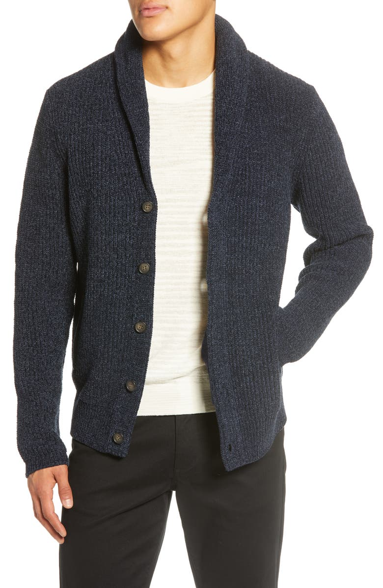 ZACHARY PRELL Leven Shawl Collar Cardigan, Main, color, 410