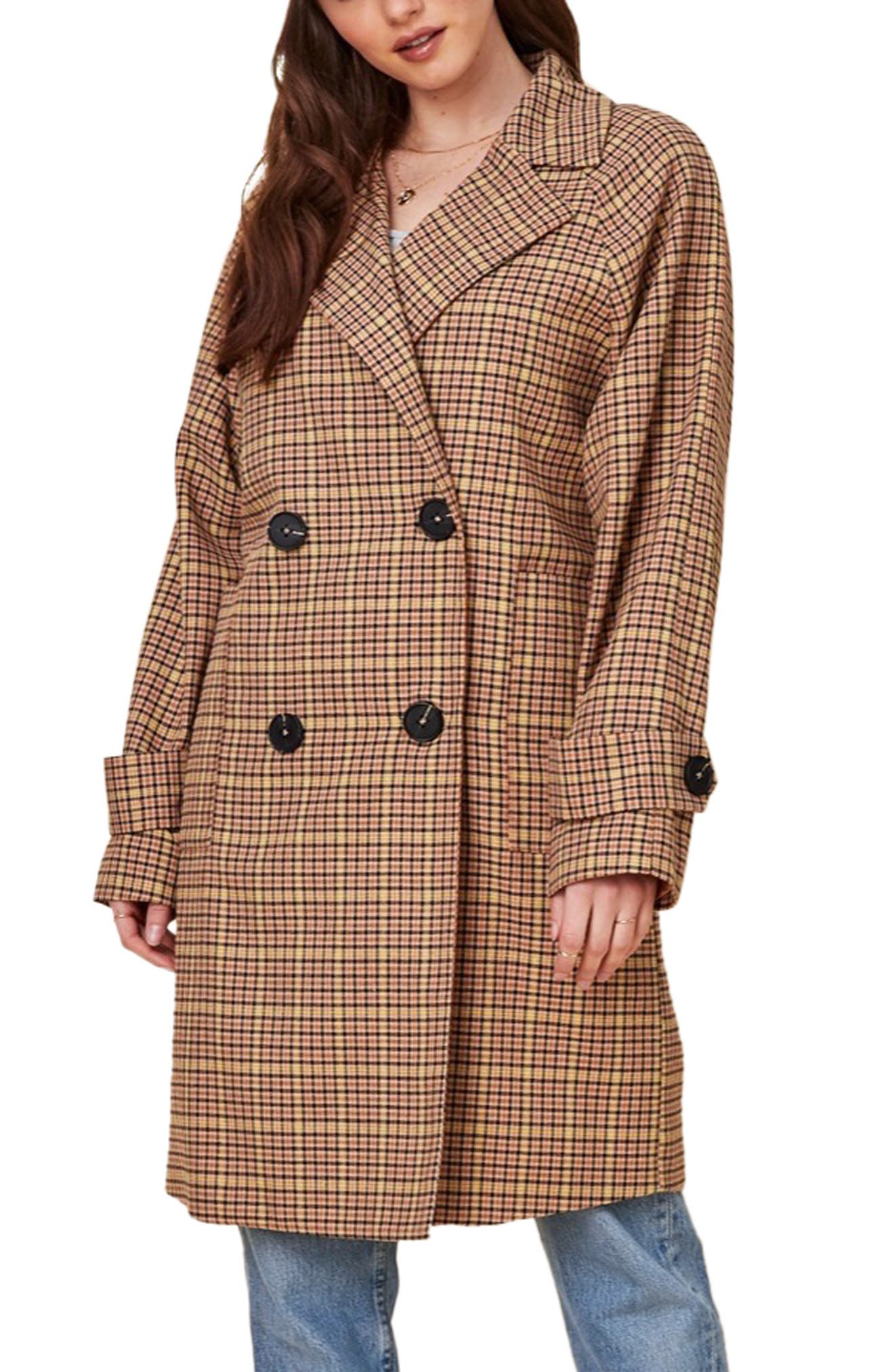 1940s Coats & Jackets Fashion History Womens Lost  Wander Tumbleweed Plaid Double Breasted Jacket $120.00 AT vintagedancer.com