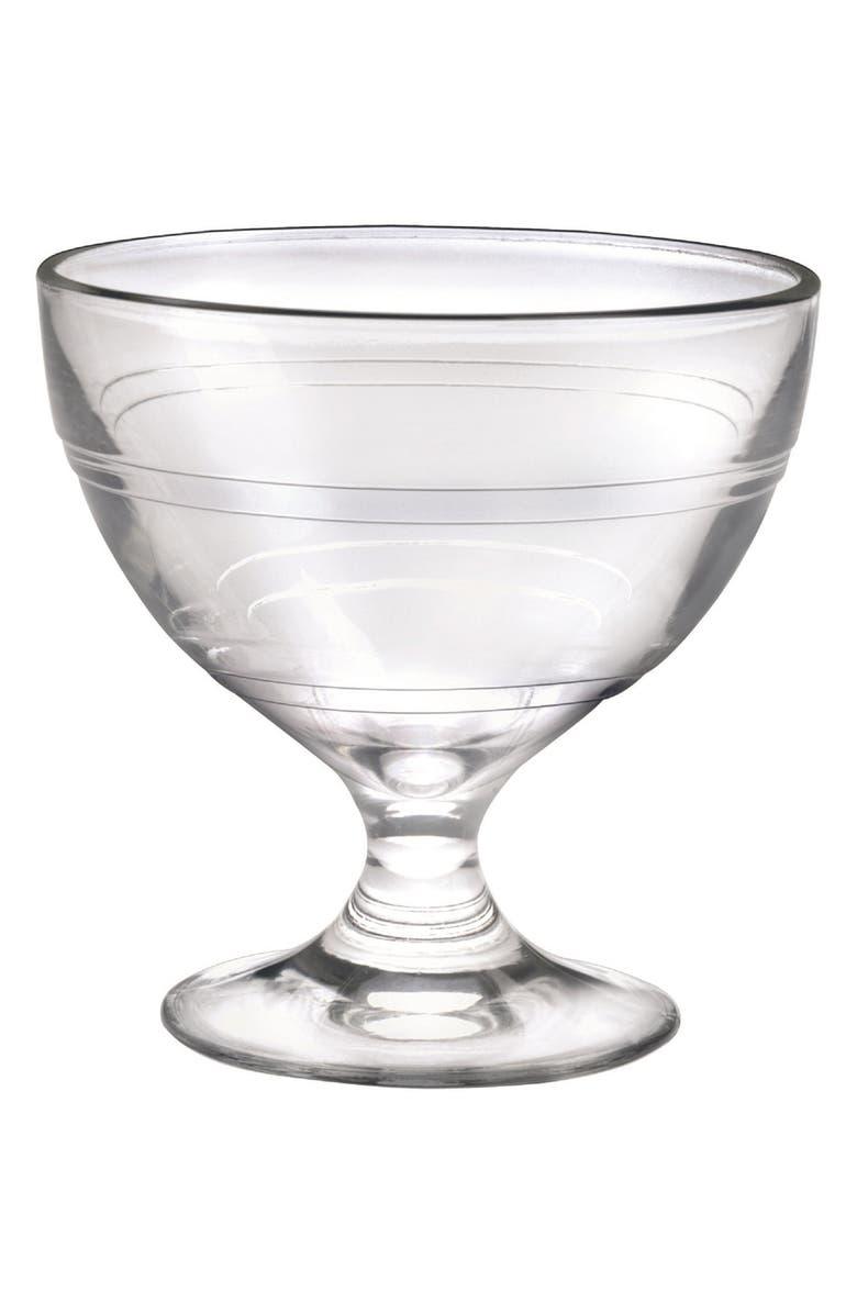 DURALEX USA Gigogne Set of 6 Tempered Glass Ice Cream Cups, Main, color, GLASS